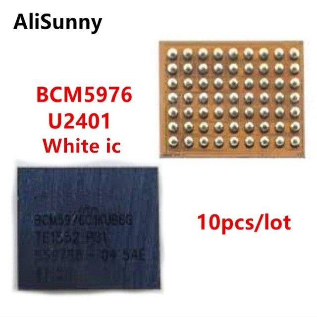 AliSunny 10 قطعة U2401 BCM5976 جهاز تحكم بالشاشة ic ل فون 6 و 6 زائد 6 P 6G الأبيض الميزون سائق اللمس ic رقاقة BCM5976C1KUB6G