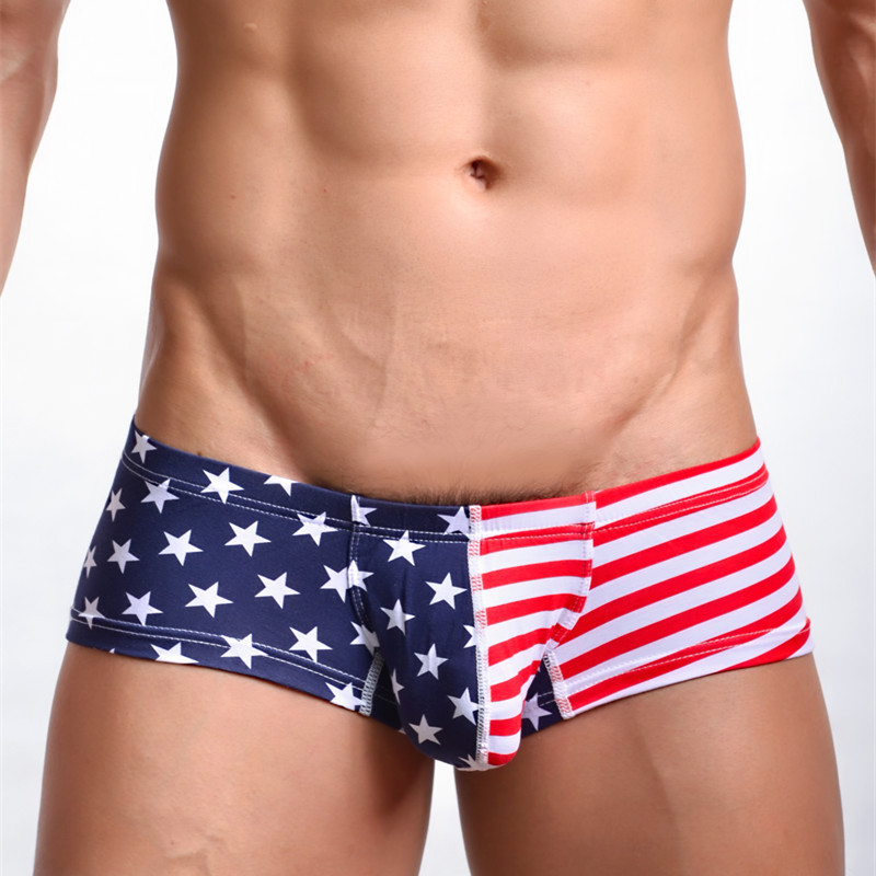 Men's underwear men's underwear cotton speed sell pass small American flag printing men pants WMGXP