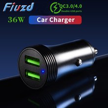 Metal Quick Charge 4.0 3.0 USB Car Charger For iPhone 11 Pro Maxfor Huawei P30 adapter charger for xiaomi for anker for samsung