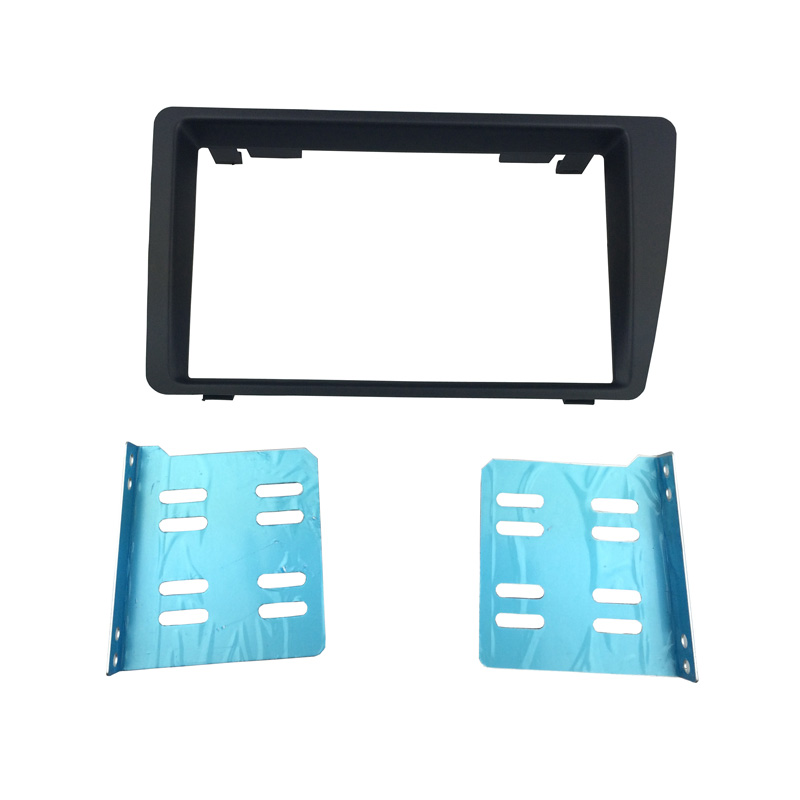 Double Din Radio Fascia untuk Honda Civic 01-05 Dash Mount Stereo Panel Potong Kit Adaptor Instalasi DVD Frame