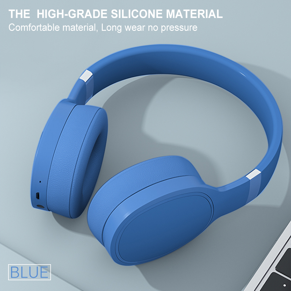 IKOLE Bluetooth 5.0 Wireless Over the Ear Headset Deep Bass Hi-Fi Stereo Sound with rubber, Comfortable to Wearing Headphone 5