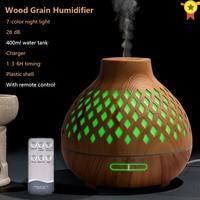 Luftbefeuchter Ätherisches öl diffusor 400ML Ultraschall Kühlen Nebel Maker Fogger Xiomi Fernbedienung Luftbefeuchter Aroma Diffusor