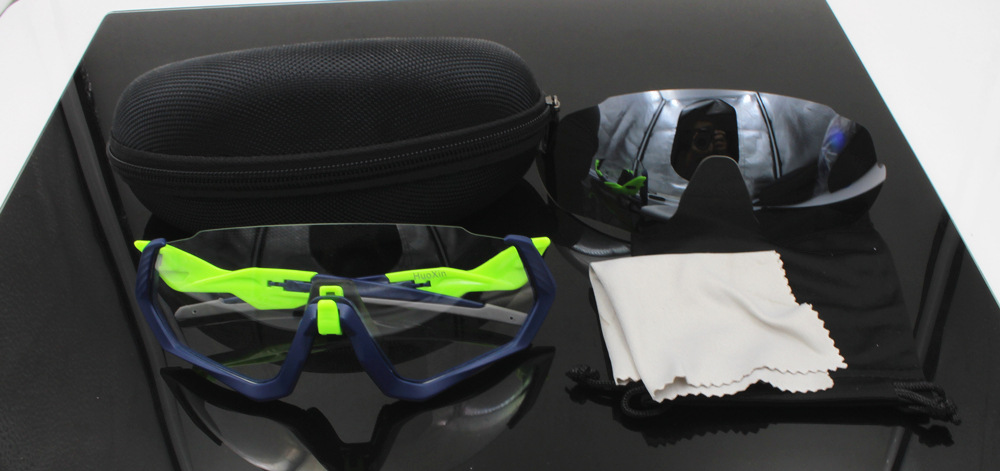 Color Changing Flight Jacket 2 Plastic Lenses Outdoor Sports Riding Glasses Wind-Resistant Sand