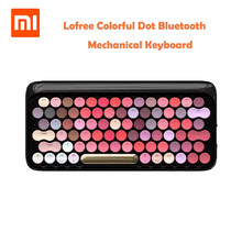 Xiaomi Lofree Wireless Bluetooth Mechanical Keyboard Bloom Version Charming Colorful Lipstick Gaming With LED Backlight