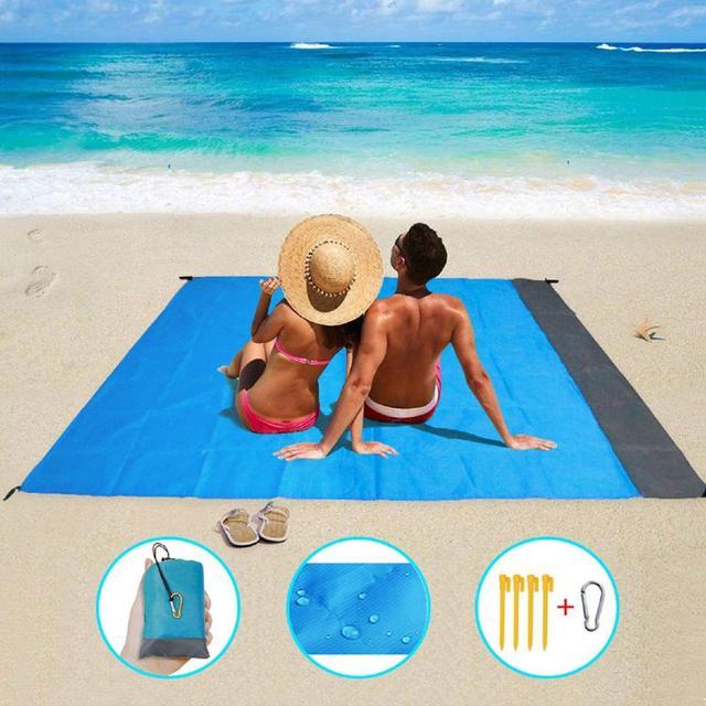 2*2M Portable Picnic Mat Waterproof Beach mat Pocket blanket Outdoor Camping Tent Ground Mat Mattress Outdoor Camping Picnic Mat 1