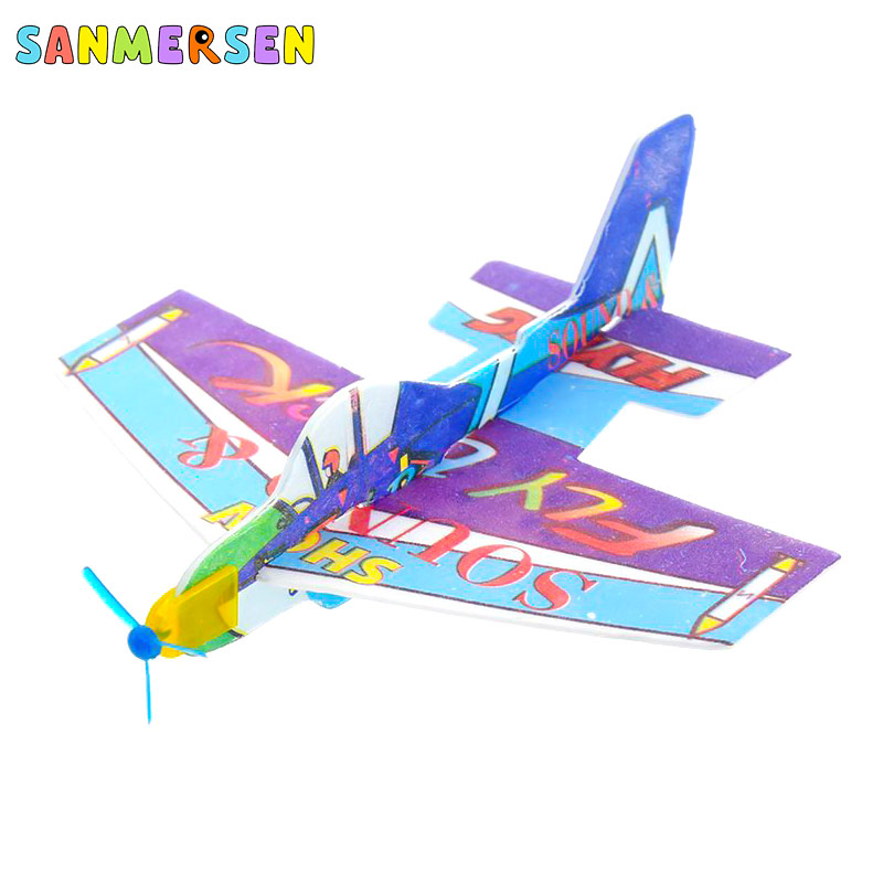 Stunt Boomerang Airplane Fun Sports Game Outdoor Indoor Park Special Hand Throw Launch DIY Foam Glider Plane Boomerang Toys