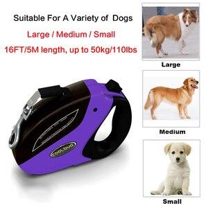 Image 2 - Retrattile Guinzaglio Del Cane Anti Slip Pet Walking Jogging Formazione Guinzaglio per le Piccole Medie Cani di Taglia Grande Fino a 110lbs Roulette per I Cani