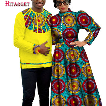 African Dresses for Couples Dashiki Retro Couple Costume for Party/wedding African Couple Clothing Customized Wholesale WYQ209 фото