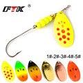 Приманка для рыбалки от FTK Спиннер приманка 6 цветов вес 2 8 г 5g 7 8 г 10.5g 1 5g басы жесткие приманки ложка с крючком снасти Высокое качество для щу...