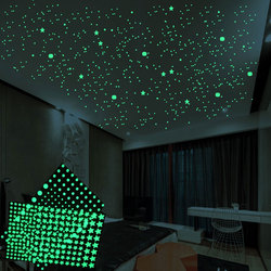 202pcs/set 3D Waterproof Traceless Mildew Proof Luminous Stars Dots Wall Sticker Bedroom Decoration Glow in the dark DIY Stick