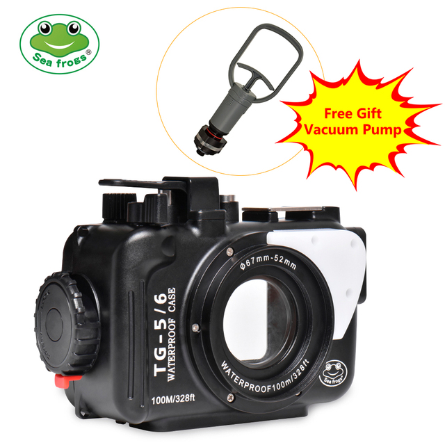 Underwater Camera Case For Olympus TG5 TG6 Waterproof Aluminum alloy Protective Cover with Vacuum System Big Promotion 1 sets