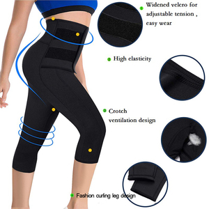 Image 5 - Waist shaper sweat pants strong tummy control sport fitness waist trainer Slimming Short Neoprene Sweat Body Shaper Workout