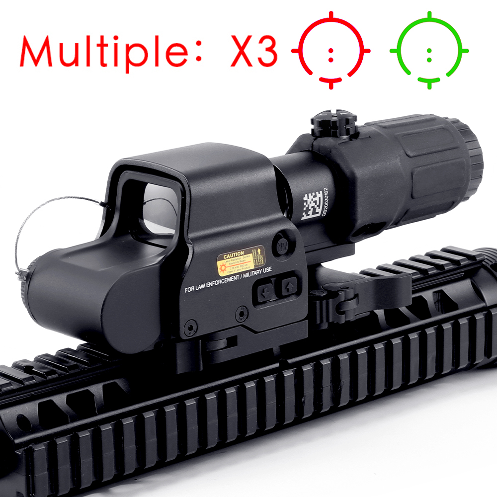 Sight Rail-Mounts Collimator Sniper Rifle Airsoft Hunting Doptic Tactics Red with 20mm