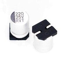 Capacitor eletrolítico de alumínio genuíno de smd do capacitor 25v220uf 8*10mm