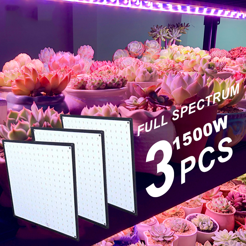 1500W 1000W Full Spectrum Indoor LED Grow Lamp For Plant Growing Light Tent Fitolampy Phyto UV IR Red Blue 225 Led Flower Seed