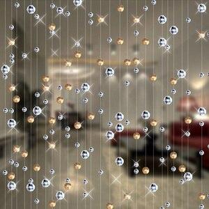 Image 1 - Cortina de vidro de cristal, cortina de vidro de cristal da moda, decoração interna, para casamento, materiais de decoração