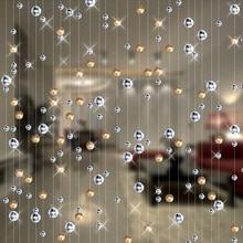 Fashion Crystal glass bead Curtain Indoor Home Decoration Luxury Wedding backdrop Decoration supplies