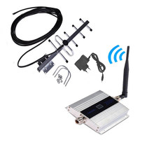 Fullset 2G GSM 900 Mhz Booster Repeater Cell Mobile Phone GSM Signal Phone Signal Amplifier with LCD Display Yagi Antenna Set(China)