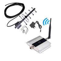 Fullset 2G GSM 900 Mhz Booster Repeater Cell Mobile Phone GSM Signal Phone Signal Amplifier with LCD Display Yagi Antenna Set