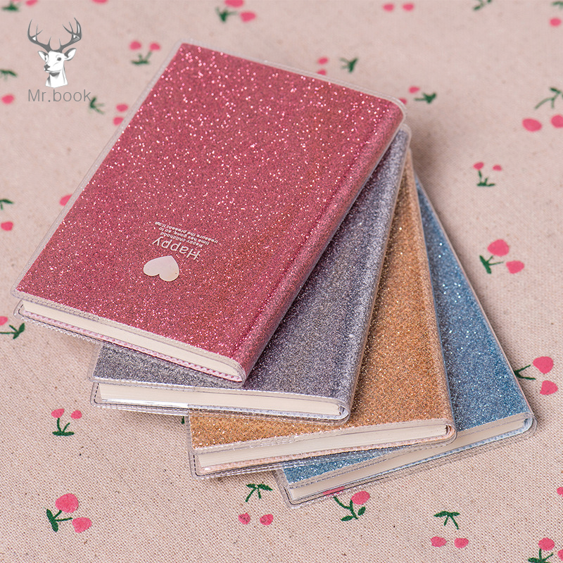 Cute Love PVC Notebook Paper Diary School Shiny Cool Kawaii Notebook Paper Agenda Schedule Planner Sketchbook Gift For Girl