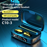 C10 TWS Touch Bluetooth Drahtlose Kopfhörer 9D Surround Stereo Headset Sport Wasserdichte Ohrhörer Noise reduction Kopfhörer