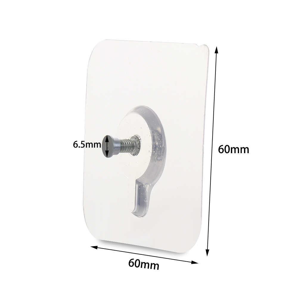 Details about  /Transparent Storage Hanger Removable Photo Frame Hook Seamless Adhesive Hooks