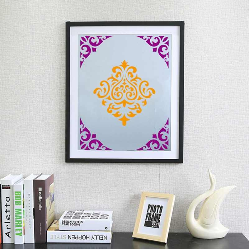 16pcs 15*15 ซม.Mandala wall ภาพวาด Stencil Reusable Stencil ตัดภาพวาด DIY ชั้นกระเบื้องผ้าเฟอร์นิเจอร์ Stencils