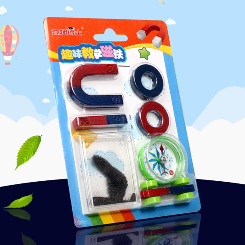 Juego de herramientas didácticas Montessori para el aprendizaje de tecnología temprana, anillo en forma de U, brújula, imán, chico