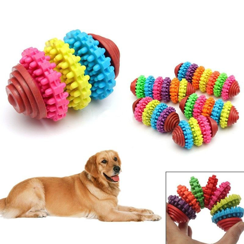 Pet Dog Playing Toys Colorful Puppy Dental Teething Healthy Bite Chew 5 Styles Gear Shape Product Toy