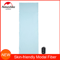 NatureHike New Skin friendly Modal Fiber Sleeping Bag Liner for Travel and Camping Sheet Ultralight and Portable with Stuff Sack Sleeping Bag liner Sports & Entertainment -