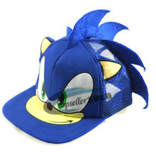 Милая бейсбольная кепка с изображением Соника Ежика для мальчиков и девочек, молодежная Регулируемая синяя кепка в стиле хип-хоп