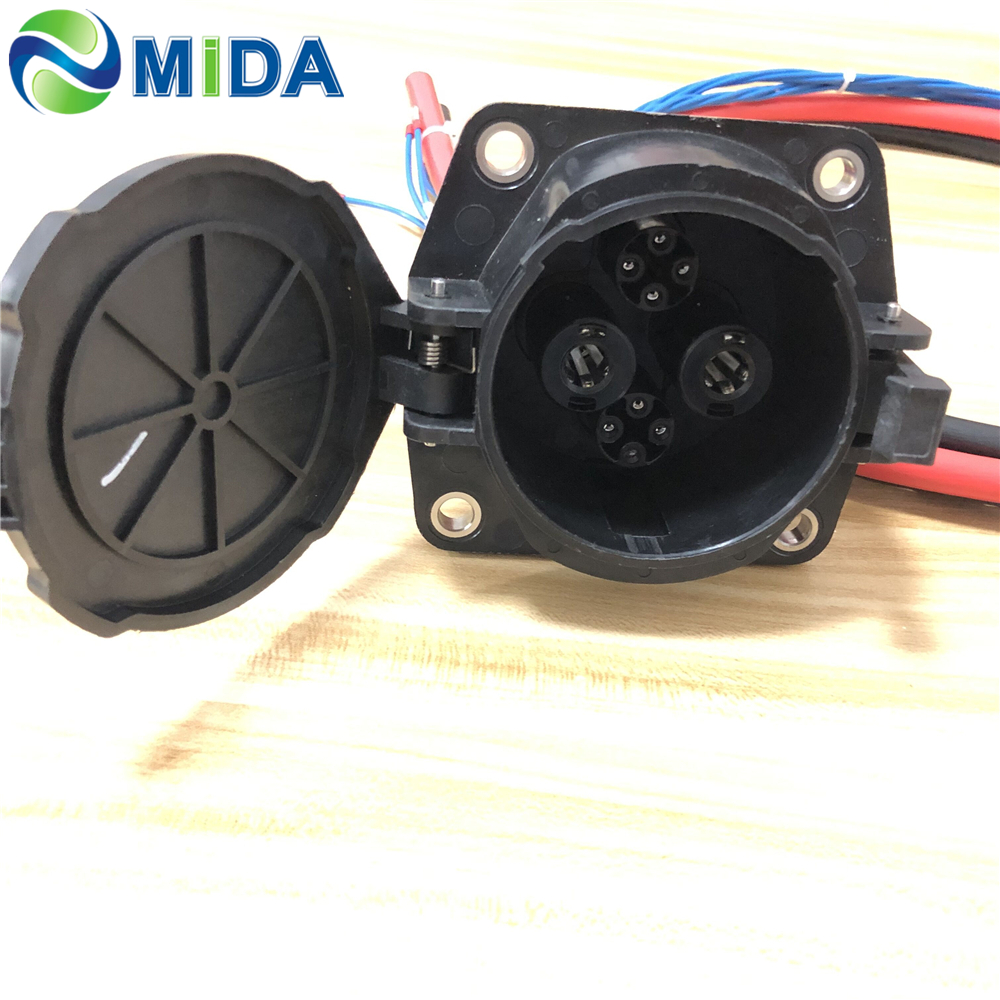 Japan CHAdeMO Socket Inlet 125A DC Fast EV Charger Socket Electric Car Charging Connector With EV Cable