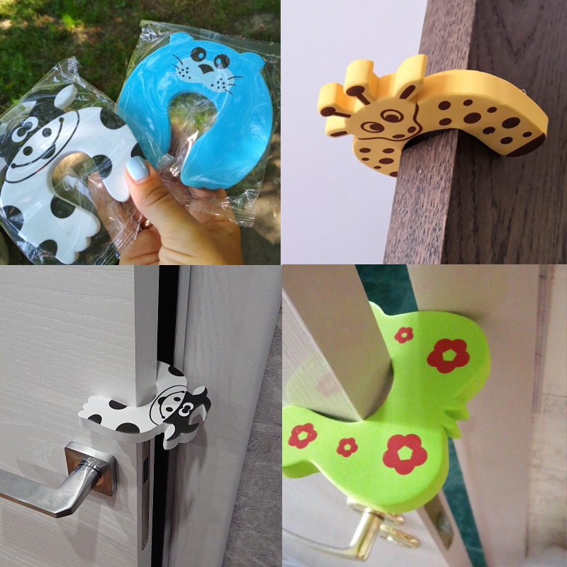 5pcs Baby Nesting Toys Safety Guard Proofing Door Stoppers Finger Safety Guard Cute Animal Lock Safety Guard Baby Protection Toy