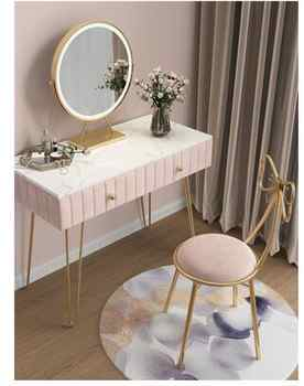 Nordic dressing table bedroom modern minimalist online celebrity ins wind marble dressing table solid wood dressing table - DISCOUNT ITEM  26 OFF Furniture