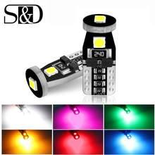 T10 w5w lâmpadas de led para carro, canbus, luzes para leitura, domo automático, acessórios para porta, branco, vermelho e amarelo verde azul rosa