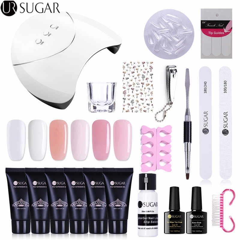 Ur Suiker Poly Uv Gel Set Quick Building Gel Polish Vinger Extension Uv Led Acryl Builder Nagels Gel Lamp Kristallen jelly