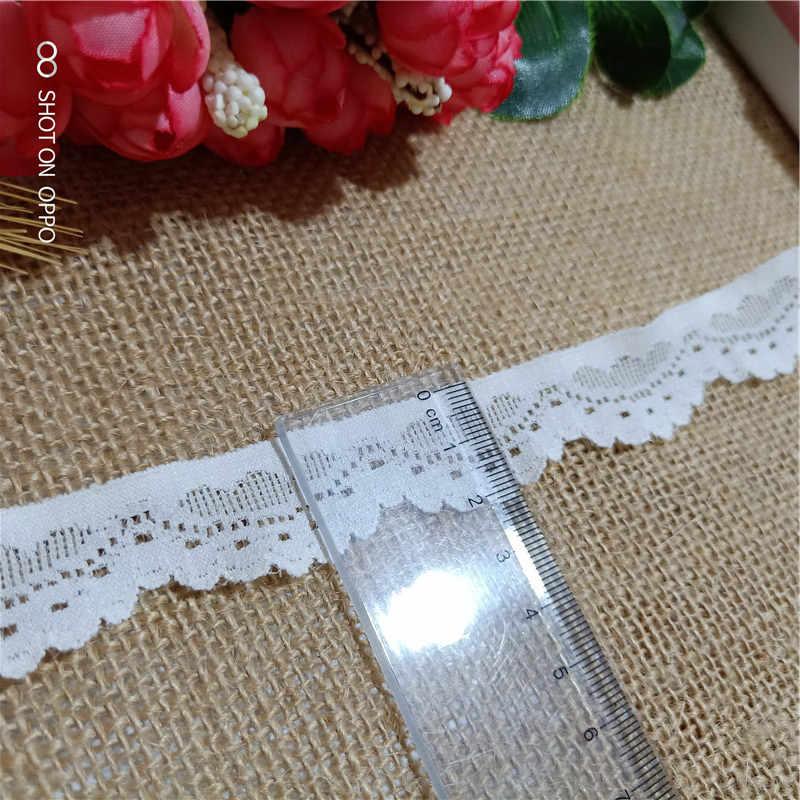 * 2.3 سنتيمتر واسعة S2206 الأبيض تمتد الدانتيل الدانتيل تقليم عملية الخياطة الاكسسوارات الدانتيل النسيج الملابس الداخلية حافة الديكور