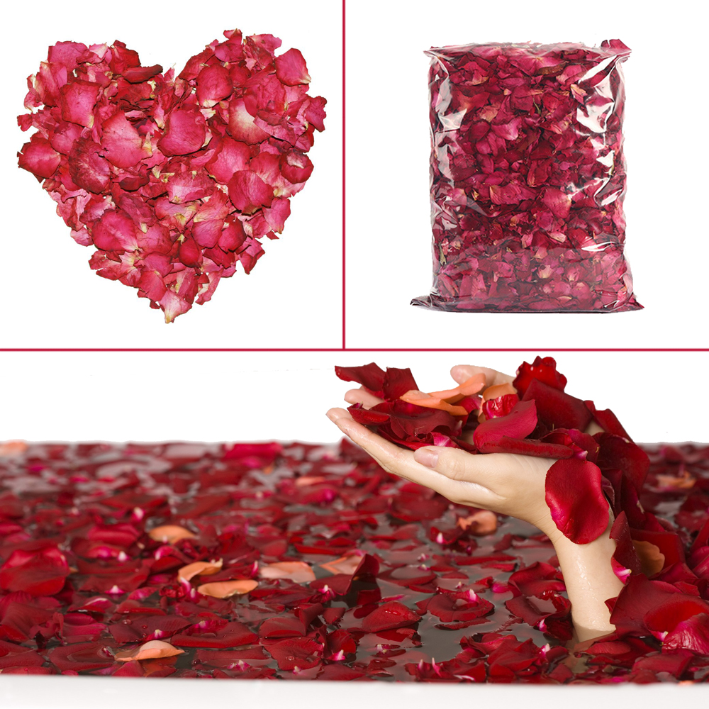 100% Natural Rose Bath Petals Dry Flower Petale De Rose Spa DIY Body & Foot Pedicure Bath Tools
