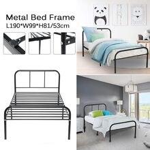 190cm/74.8in cama dobrável estilo moderno casa adulto única pessoa cama lazer simples ferro quadro cama dupla dobrável