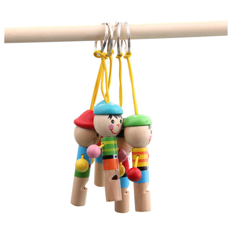 Toy Cartoon Children Wooden Whistle Wind Instruments Mainland China Trumpet Unisex Share Small Gifts