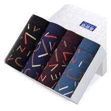 EVES 5pcs 높은 스트레치 패션 남자 복서 남성 속옷 남자 면화 복서 반바지 4XL 꽉 복서 반바지 남자 속옷