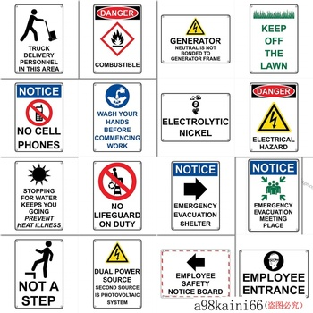 New Tin Sign Retro Notice Emergency Evacuation Meeting Place Sign Aluminum Metal Sign for Men, Women, Unisex 8 X 12 Inch image