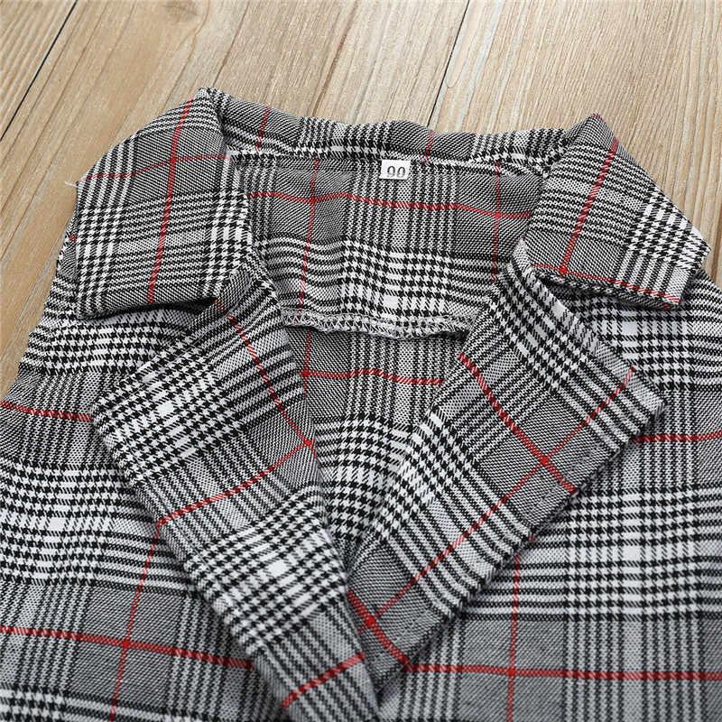 1-6 yıl çocuklar kız giyim sevimli çocuk takım elbise ekose yelek üstleri ekose etek kıyafet kızlar resmi elbise elbise kız elbise seti
