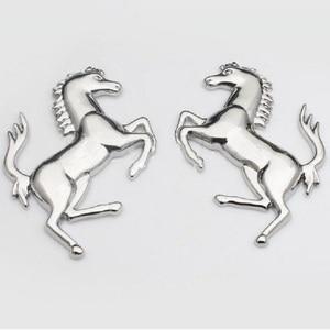 Image 5 - 3D Logo Zinc Alloy Metal Horse Emblem Sticker badge Emblem Decal For Ford Ferrari Car Window Bumper Body Sticker car styling