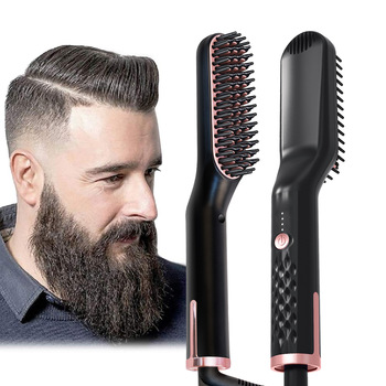купить Man Beard Straightener Styling Hair Comb Brush Tools  Men Hair Straightening Comb Irons Beard Grooming Combs в интернет-магазине