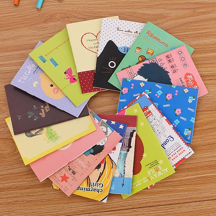 40 pc/lot Nice Cute fashion mini books / students cute soft copy small notebook / cartoon notebooks/children gift