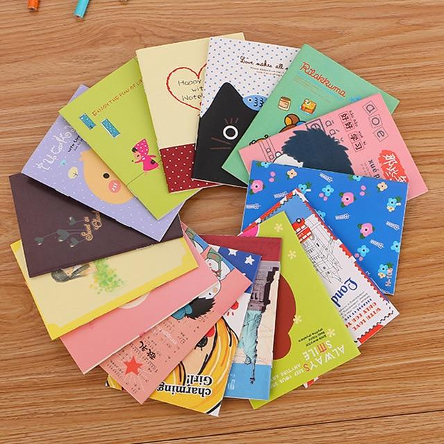 40 יח\חבילה נחמד חמוד אופנה מיני ספרים/סטודנטים חמוד עותק רך פנקס קטן/מחברת cartoon/ילדי מתנה