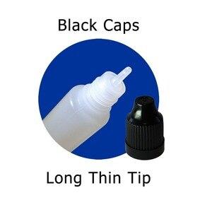Image 5 - 100pcs x 3ml 120ml Dropper Bottles Plasitc LDPE Empty Squeezable Eye E Liquid Juice Container CRC Cap Long Dropper Tip + Funnels