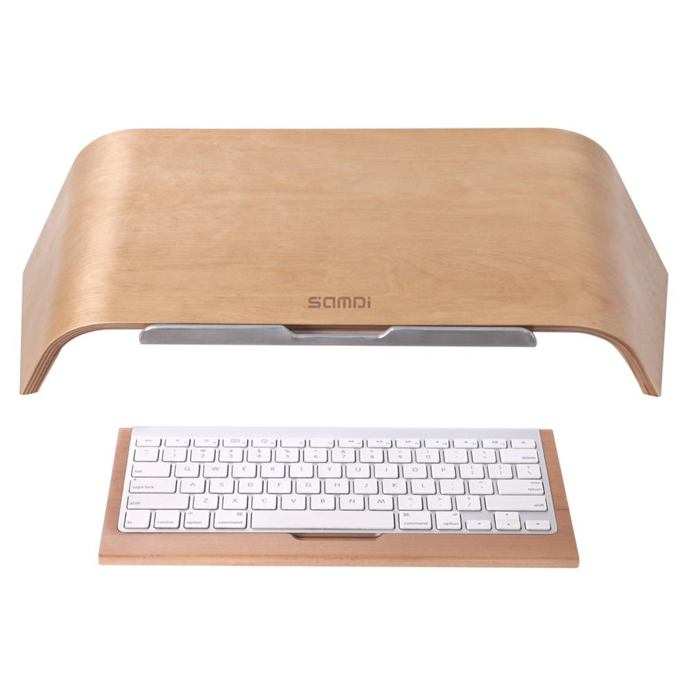 New Arrival SAMDI Wooden Oblique Universal Laptop Stand Holder Bracket For MacBook Air/Pro