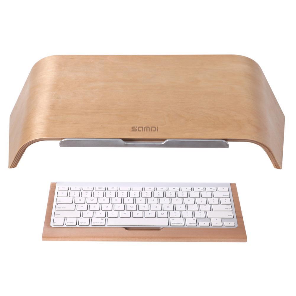 New Arrival SAMDI Wooden Oblique Universal Laptop Stand Holder Bracket For MacBook Air/Pro